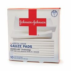 Johnson & Johnson Hospital Grade Gauze Pads, Large - OutpatientMD.com