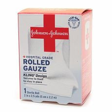 Johnson & Johnson Hospital Grade Rolled Gauze, 2in - OutpatientMD.com