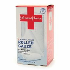Johnson & Johnson Hospital Grade Rolled Gauze, 3in - OutpatientMD.com