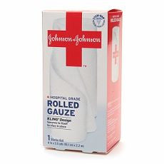 Johnson & Johnson Hospital Grade Rolled Gauze, 4in - OutpatientMD.com