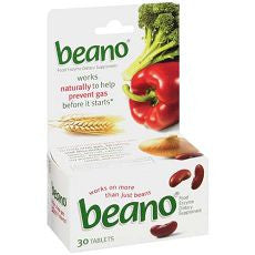 Beano Food Enzyme Dietary Supplement, Tablets 30 - OutpatientMD.com