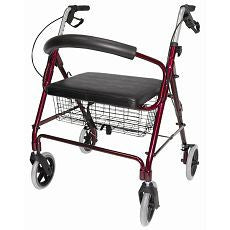 Rollator Lightweight Extra-Wide Heavy Duty Burg. - OutpatientMD.com