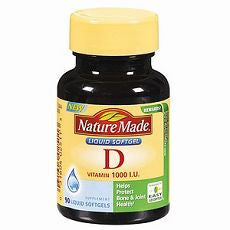 Vitamin D, 1000 IU 90 liquid softgels - OutpatientMD.com