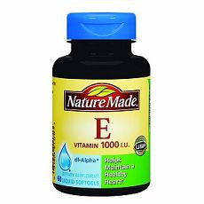 Nature Made Vitamin E, 1000 IU, Liquid Softgels