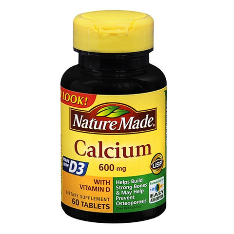 Calcium Supplement with Vitamin D 600mg Tablets