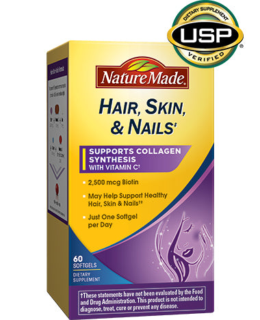 Nature Made Hair, Skin, and Nails SoftGels 60 count