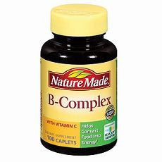 B-Complex with Vitamin C, Caplets 100 ea