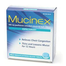 Mucinex Expectorant, Guaifenesin Extended-Release - OutpatientMD.com