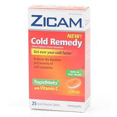 Zicam Cold Remedy RapidMelts with Vitamin C Citrus - OutpatientMD.com