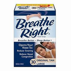 Breathe Right Nasal Strips, Large, Tan 30 ea - OutpatientMD.com