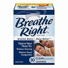 Breathe Right Nasal Strips, Small/Medium, Clear 30 - OutpatientMD.com