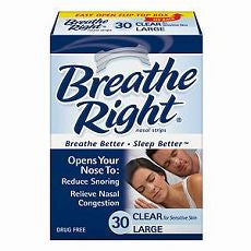 Breathe Right Nasal Strips, Large, Clear 30 ea - OutpatientMD.com