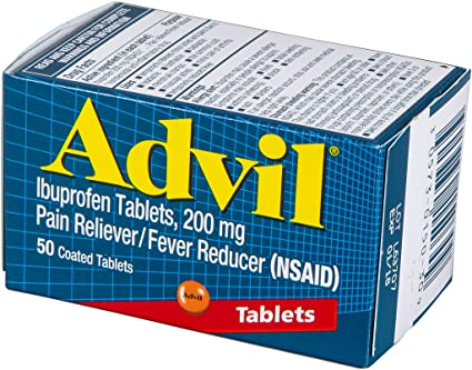 Advil 200 mg Coated Tablets 50's