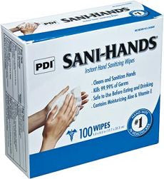 Wipes Sani Hands Instant Hand Sanitizing 100 ea - OutpatientMD.com