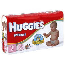 "Huggies ""Snug & Dry"" Diapers Size: 2 34's - OutpatientMD.com"