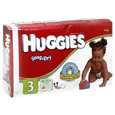 "Huggies ""Snug & Dry"" Diapers Size: 3 28's - OutpatientMD.com"