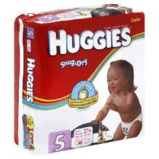 "Huggies ""Snug & Dry"" Diapers Size: 5 22's"