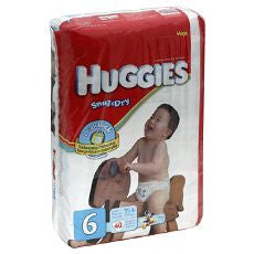 "Huggies ""Snug & Dry"" Diapers Size: 6 18's"