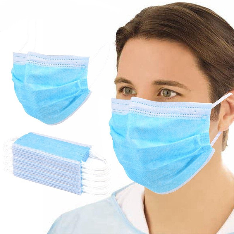 Mask with Earloops - Box of 50 - Blue