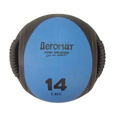 Medicine Ball 14LB Dual Grip Blue