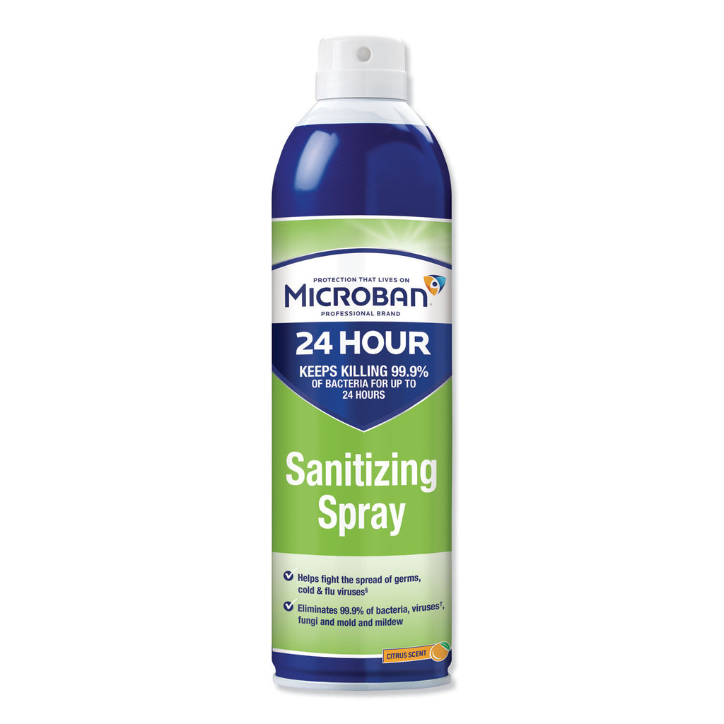 Microban 15 oz. 24-Hour Citrus Sanitizing Aerosol Spray