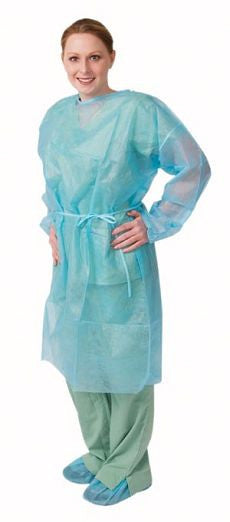 Isolation Gown, Regular, Blue, 50/cs - OutpatientMD.com