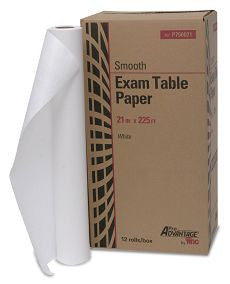 "Exam Table Paper, 21"" x 225 ft, White, Smooth"