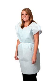 "Exam Gown, Tissue/Poly/Tissue, 30"" x 42"", Blue - OutpatientMD.com"