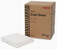 "Drape Sheet, 2 Ply, Tissue, 40"" x 48"", White"