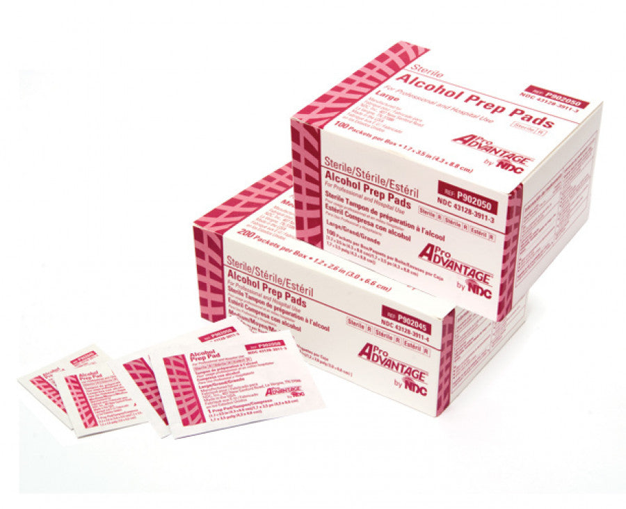 ALCOHOL PREP PAD LARGE STERILE 100/BOX