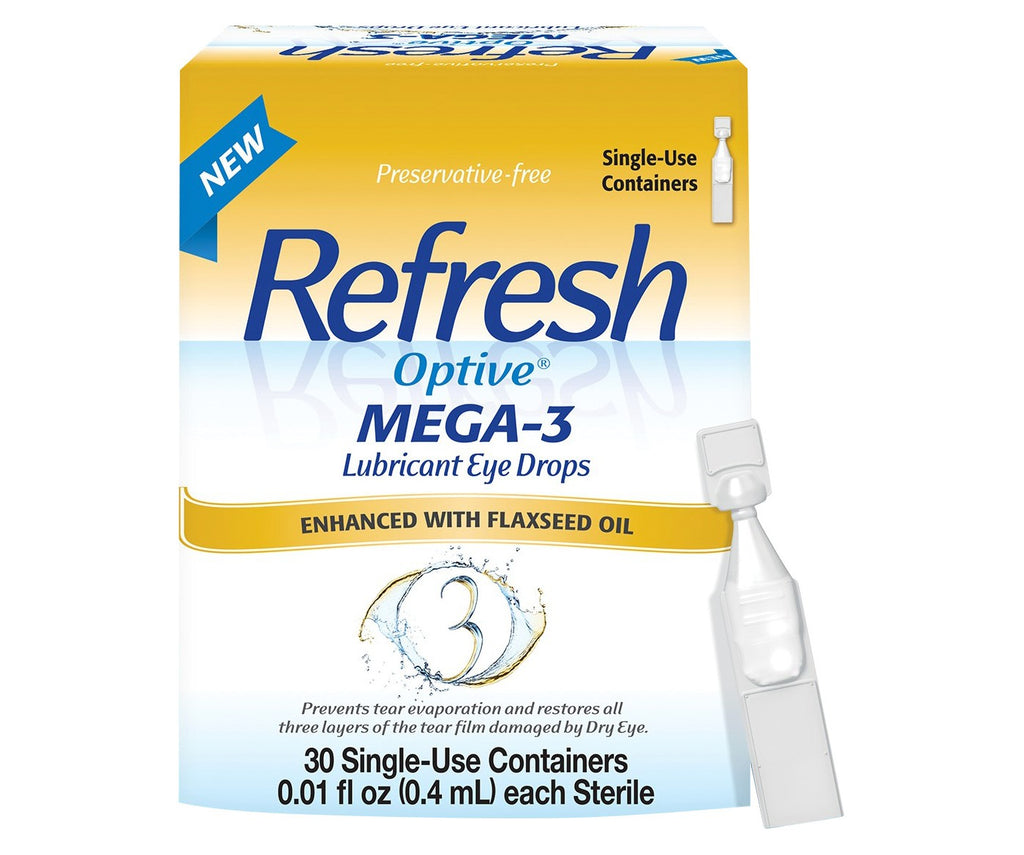 Refresh Optive Mega-3 Eye Drops Preservative Free 30.0 ea