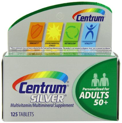 Centrum Silver Multivitamin/Multimineral 125 ea - OutpatientMD.com