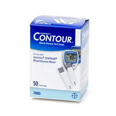 Contour Blood Glucose Test Strips 50's