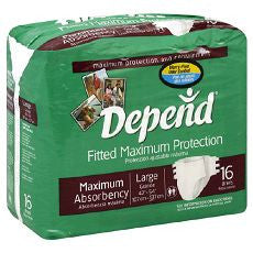 Depends Fitted Maximum Protection Briefs Large