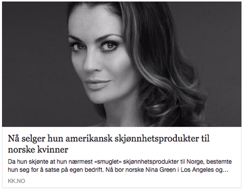 KK.no MyBeautyAvenue Nina Green