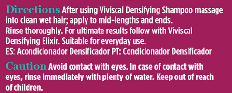 Viviscal Conditioner directions