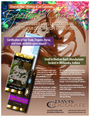 Premium private label chocolate bars made to your specifications
