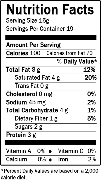 Peanutta chips nutrition facts