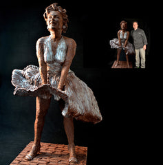Marilyn Monroe Chocolate Sculpture