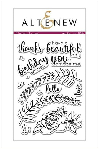 FLORAL FRAME STAMP SET