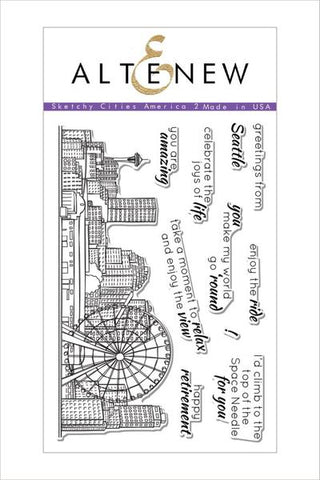SKETCHY CITIES AMERICA 2 STAMP SET