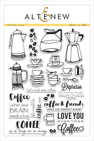 COFFEE LOVE STAMP SET