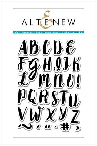 CALLIGRAPHY APLHA UPPERCASE STAMP SET