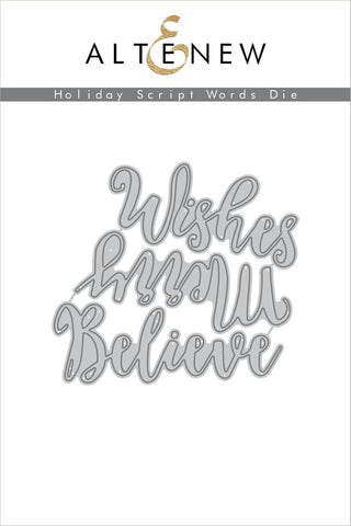 HOLIDAY SCRIPT WORDS DIE