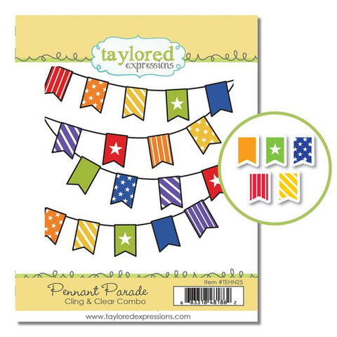 PENNANT PARADE CLING & CLEAR COMBO