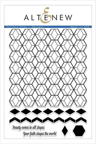 PATTERN PLAY-HEXAGON STAMP SET
