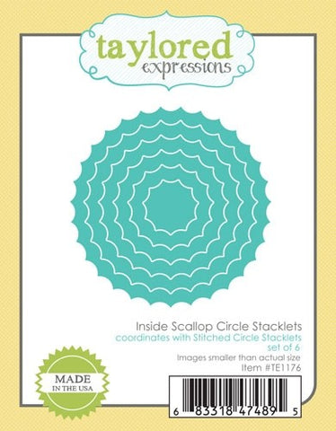 INSIDE SCALLOP CIRCLE STACKLETS