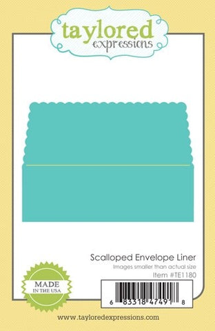 SCALLOPED ENVELOPE LINER
