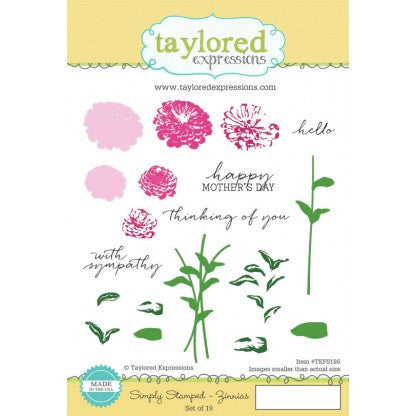 SIMPLY STAMPED ZINNIAS