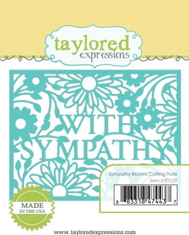 SYMPATHY BLOOMS CUTTING PLATE